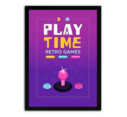Poster com Moldura - Retro Game Mo.3