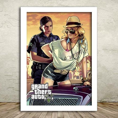 Poster com Moldura - GTA V