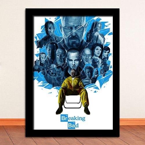 Poster com Moldura - Breaking Bad Crystal