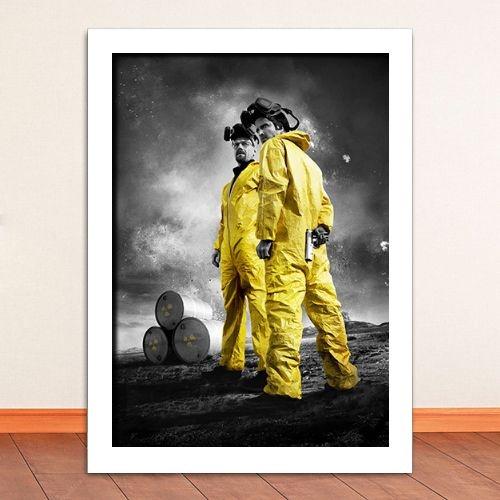 Poster com Moldura - Breaking Bad Walter & Jesse