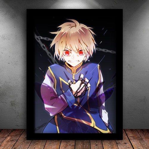 Poster com Moldura - Kurapika Hunter x Hunter Mo. 2