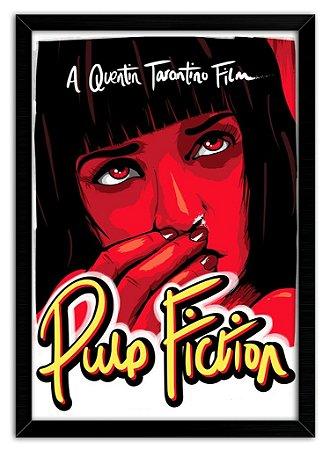 Poster com Moldura - Pulp Fiction