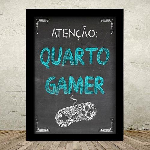 Poster com Moldura - Quarto Gamer