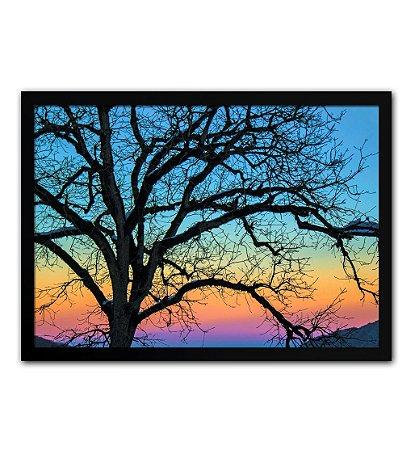 Poster com Moldura - Árvore Galhos Paisagem