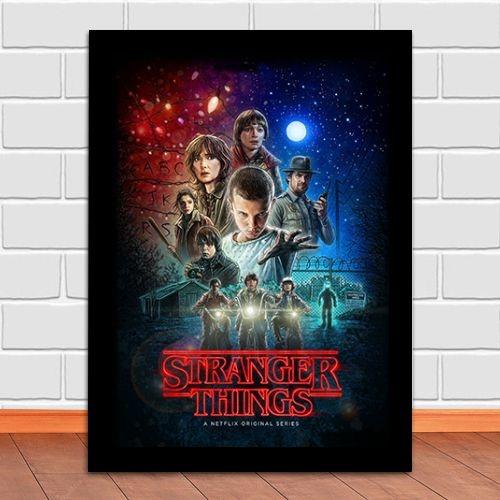 Poster com Moldura - Stranger Things
