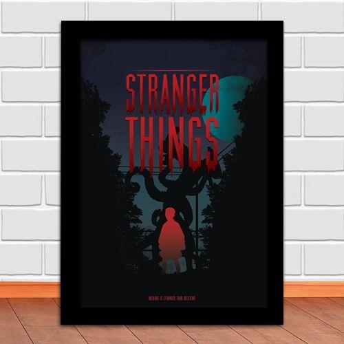 Poster com Moldura - Stranger Things M.02
