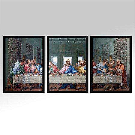 Kit 03 Quadros Decorativos - Religioso Santa Ceia