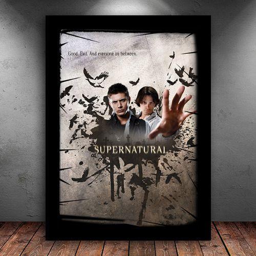 Poster com Moldura - Supernatural Good & Evil