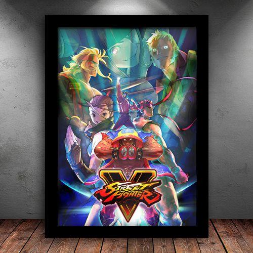 Poster com Moldura - Street Fighter V