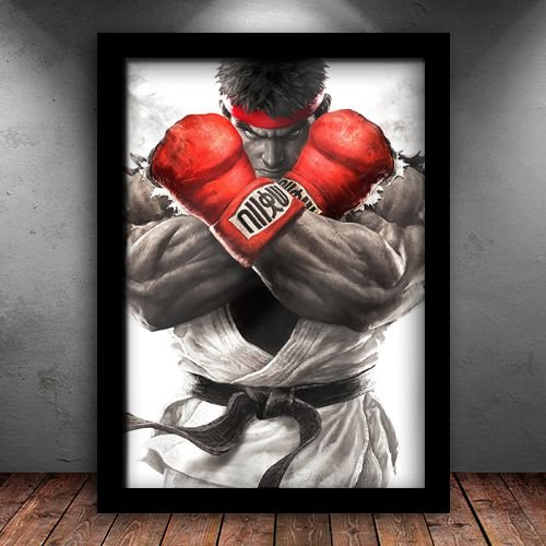 Poster com Moldura - Ryu Street Fighter V