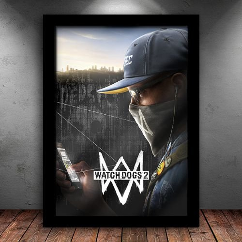 Poster com Moldura - Watch Dogs 2