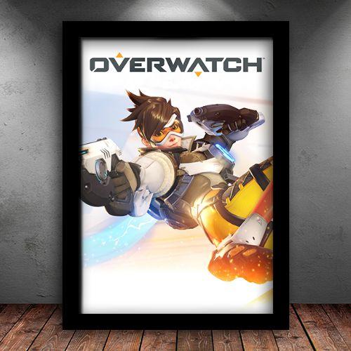 Poster com Moldura - Overwatch