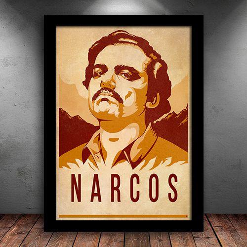 Poster com Moldura - Narcos
