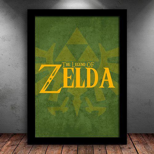 Poster com Moldura - The Legend Of Zelda