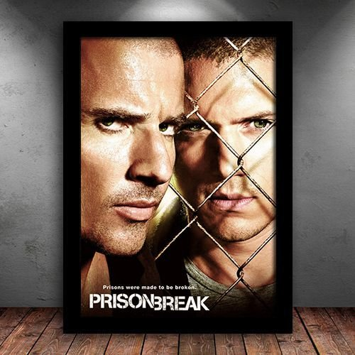 Poster com Moldura - Prison Break Mod. 2