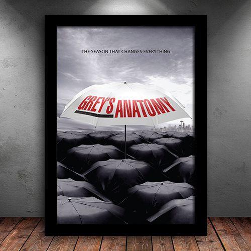 Poster com Moldura - Grey's Anatomy