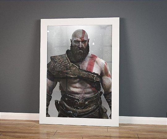 Poster com Moldura - Old Kratos God Of War