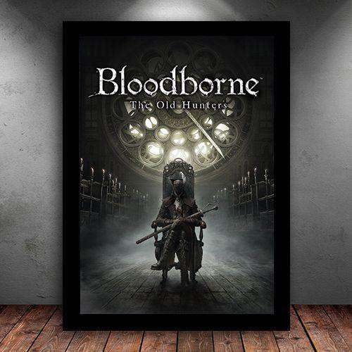 Poster com Moldura - Bloodborne The Old Hunters