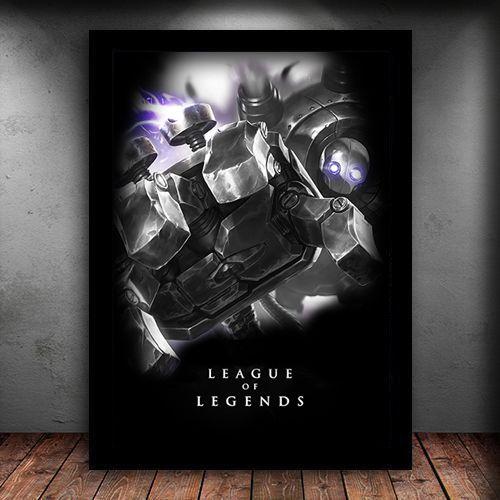 Poster com Moldura - Blitzcrank League Of Legends