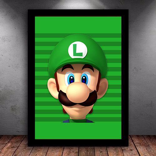 Poster com Moldura - Luigi