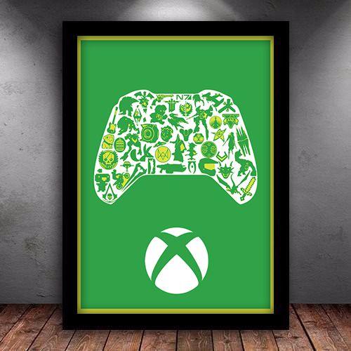 Poster Com Moldura Xbox Gamer Iframes Decora 231 227 O