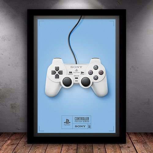 Poster com Moldura - Playstation Gamer