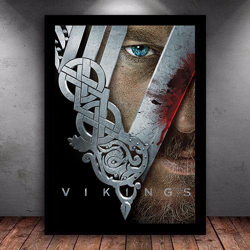 Poster com Moldura - Vikings