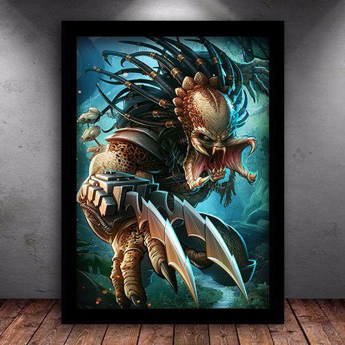 Poster com Moldura - O Predador