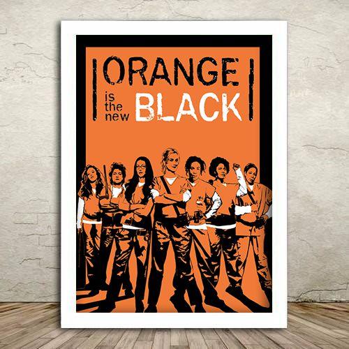 Poster com Moldura - Orange Black