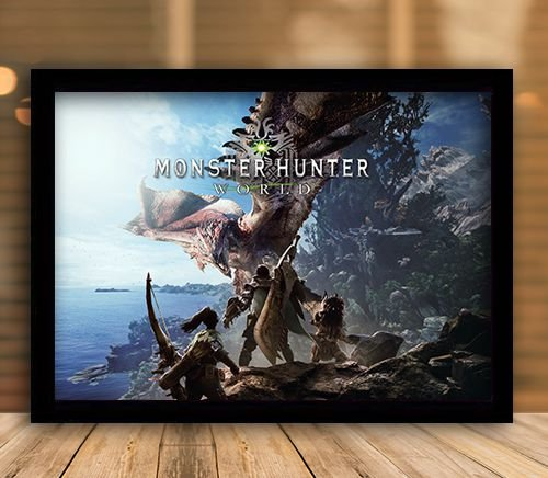 Poster com Moldura - Monster Hunter World