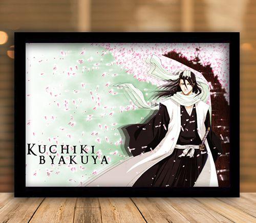 Poster com Moldura - Kuchiki Byakuya Bleach Mo.03