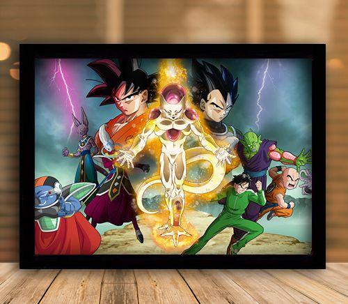 Poster com Moldura -  Dragon Ball Z: O Renascimento de Freeza