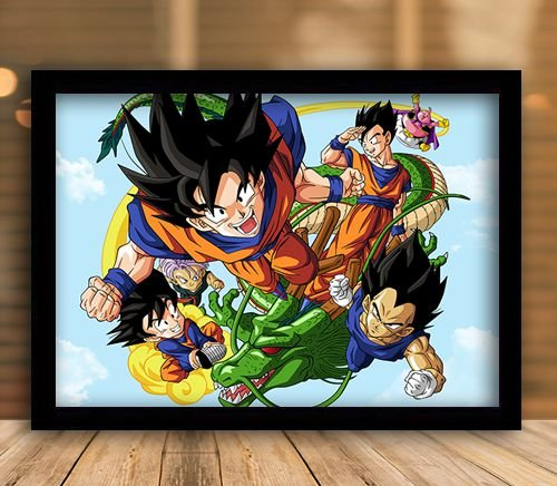Poster com Moldura -  Dragon Ball Z