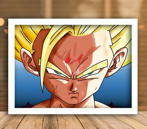 Poster com Moldura - Gohan Super Sayajin 2