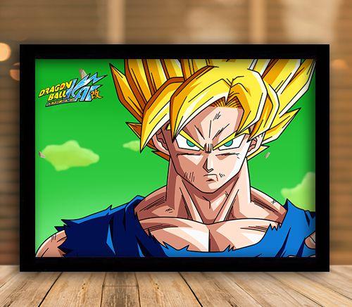 Poster com Moldura - Goku Dragon Ball Kai
