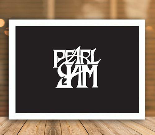 Poster com Moldura - Pearl Jam