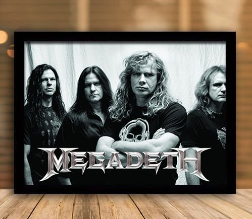 Poster com Moldura - Megadeath