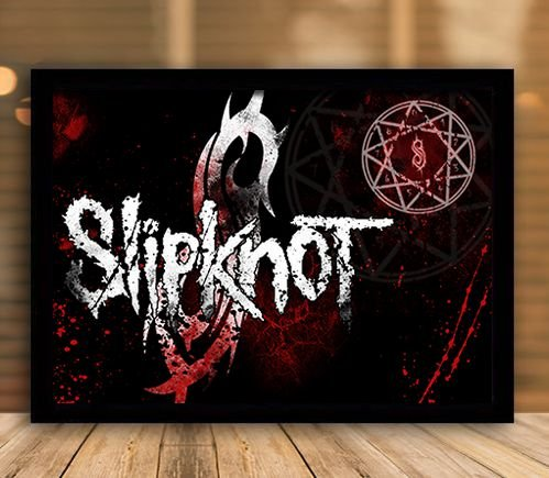 Poster com Moldura - Slipknot Mo.2