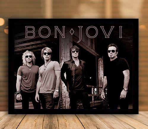Poster com Moldura - Bon Jovi