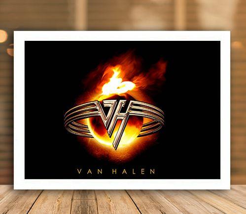 Poster com Moldura - Van Halen Mo.2