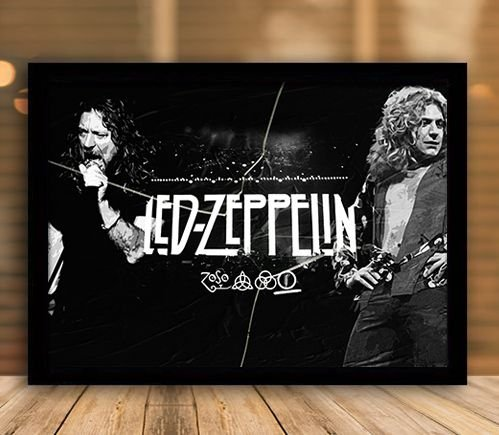 Poster com Moldura - Led Zeppelin Mo.2