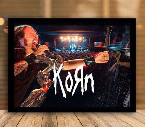 Poster com Moldura - Korn
