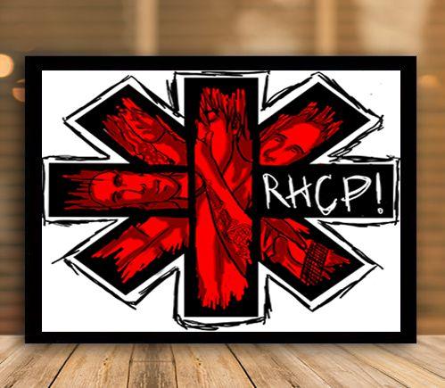 Poster com Moldura - Red Hot Chili Peppers