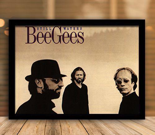 Poster com Moldura - Bee Gees
