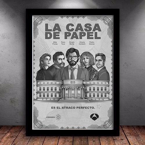 Poster com Moldura - La Casa De Papel