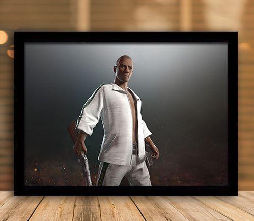 Poster com Moldura - Playerunknown's Battlegrounds PUGB