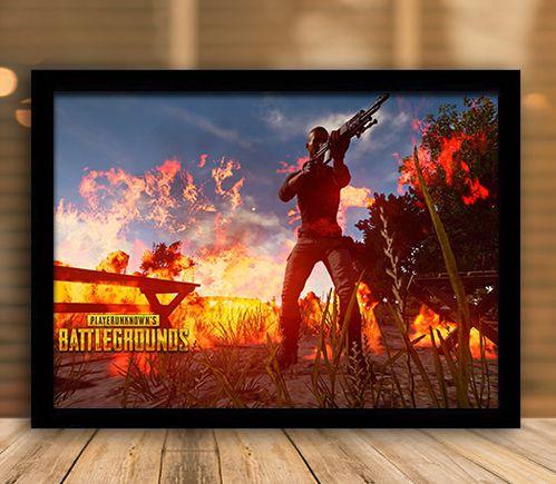 Poster com Moldura - Playerunknown's Battlegrounds PUGB Mo.03