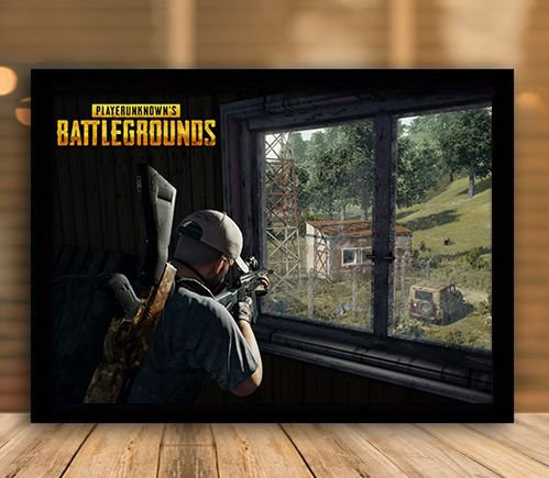 Poster com Moldura - Playerunknown's Battlegrounds PUGB Mo.05