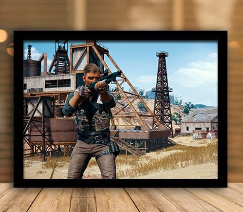 Poster com Moldura - Playerunknown's Battlegrounds PUGB   Mo.08