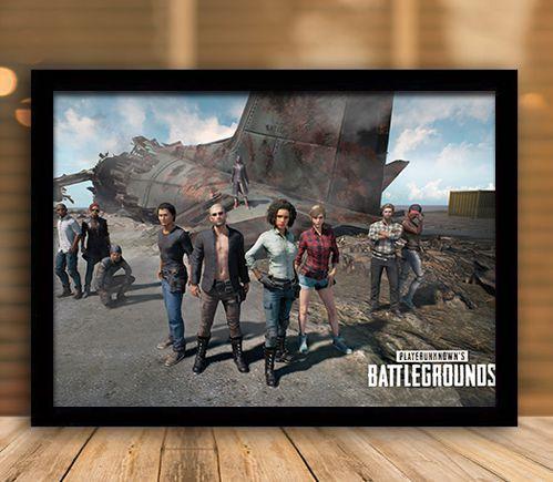 Poster com Moldura - Playerunknown's Battlegrounds PUGB   Mo.10